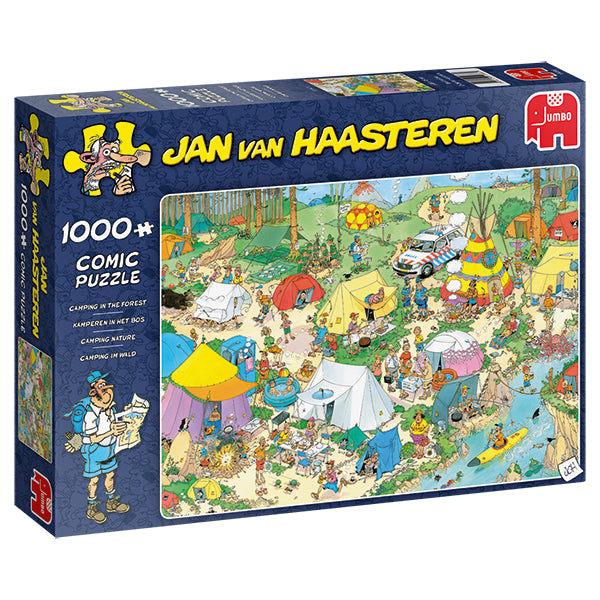 Jan van Haasteren - 1000 pcs - Camping in the forest