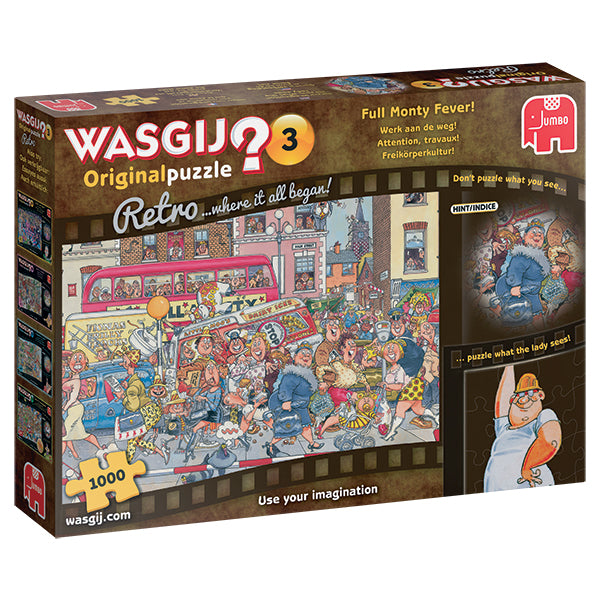 WASGIJ ORIGINAL RETRO #3, FULL MONTY FEVER! 1000pcs