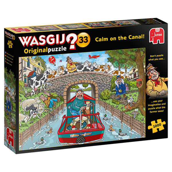WASGIJ ORIGINAL #33, CALM ON THE CANAL! - 1000pcs