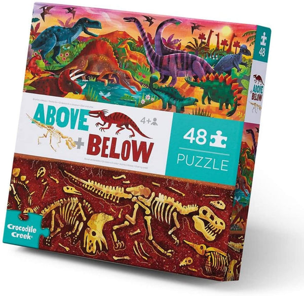 Above + Below - Dinosaur World - 48 Piece Giant Floor Puzzle for Kids Ages 4+