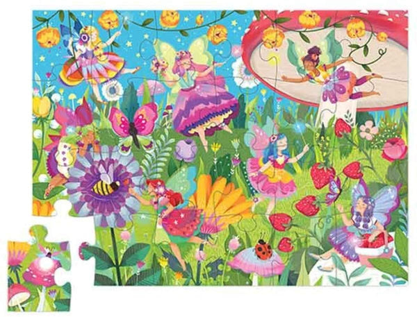Fairy Garden 24 Piece Mini Jigsaw Puzzle, Sturdy Canister for Storage, Ages 3+