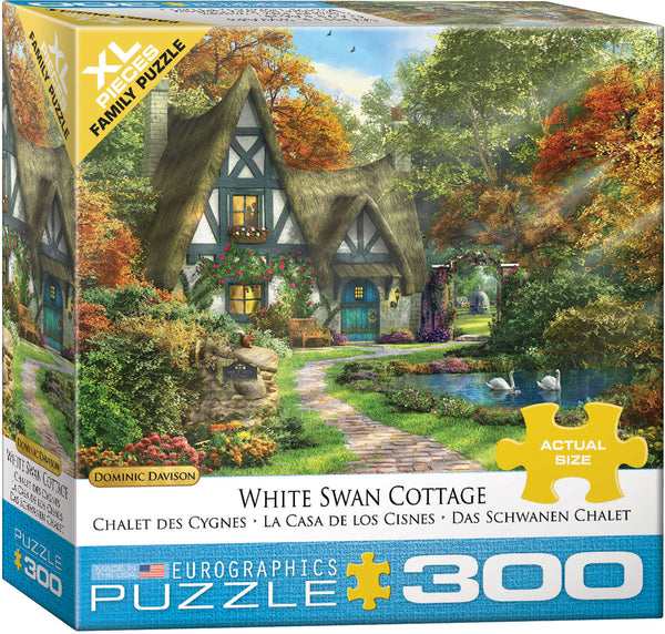White Swan Cottage 300-Piece Puzzle