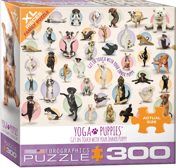 Yoga Puppies 300-Piece Puzzle