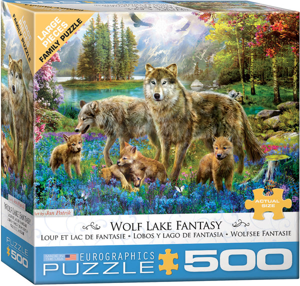 Wolf Lake Fantasy 500-Piece Puzzle