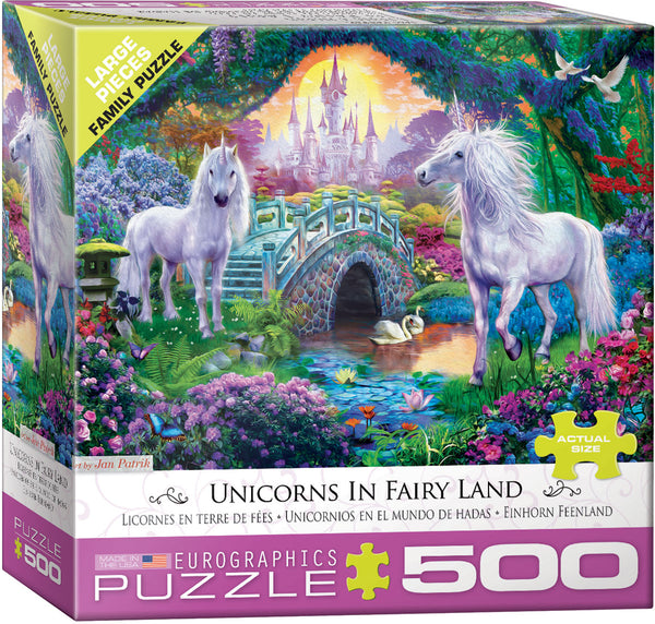 Unicorn Fairy Land 500-Piece Puzzle