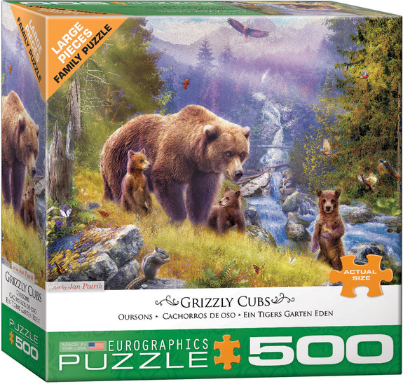 Grizzly Cubs 500-Piece Puzzle