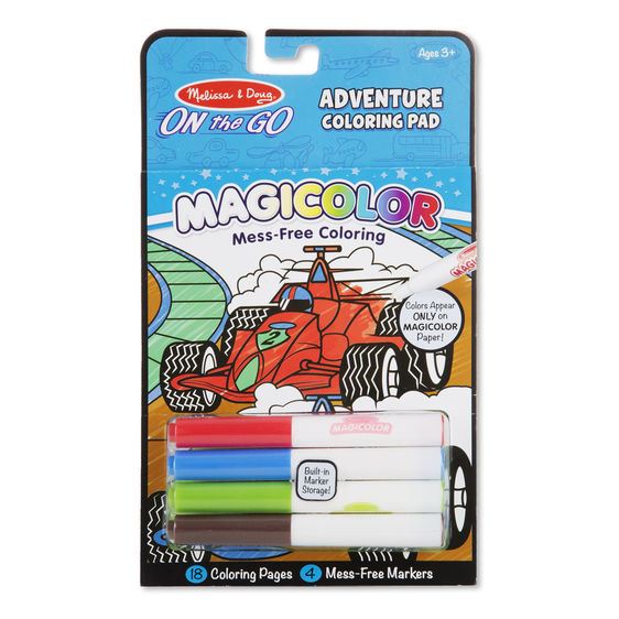 On the Go-Adventure Coloring Pads
