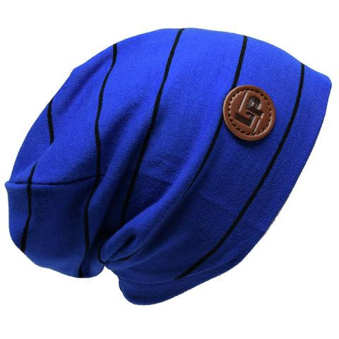 Ultra trendy cotton beanie - Royal blue / Black