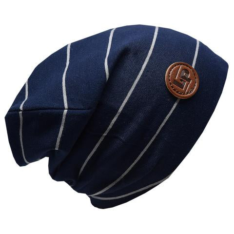 Ultra trendy cotton beanie - Navy / Gray