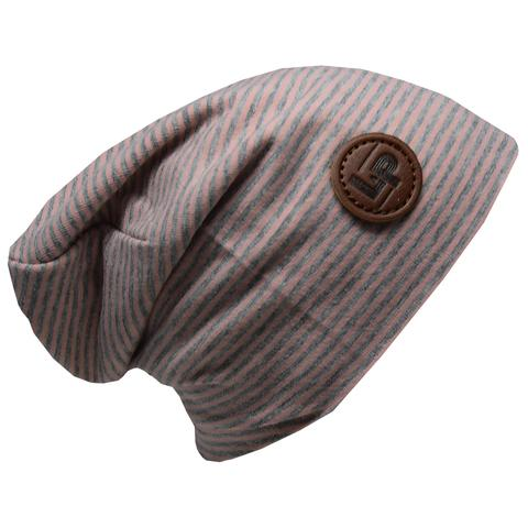 Ultra trendy cotton beanie - Dusty pink / Gray