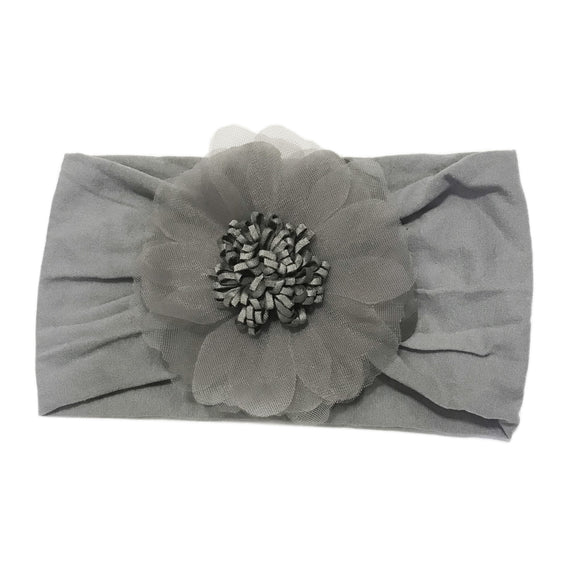 Nylon Headwrap w/ Flower