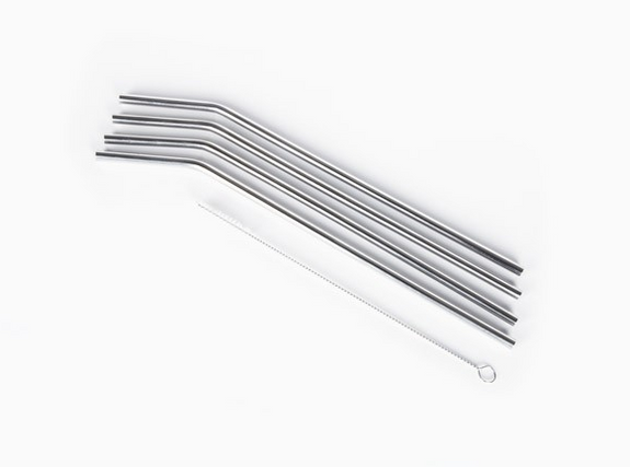 Onyx Stainless Steel Straws 24 cm/9.45 inches long, 5 mm/0.20 inches in diameter