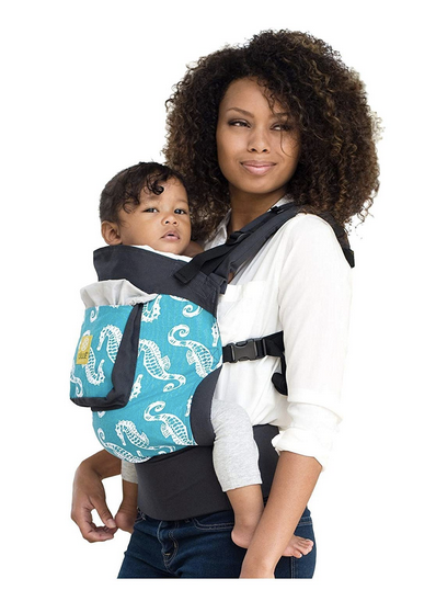 4 in 1 ESSENTIALS Baby Carrier – Charcoal Seahorses