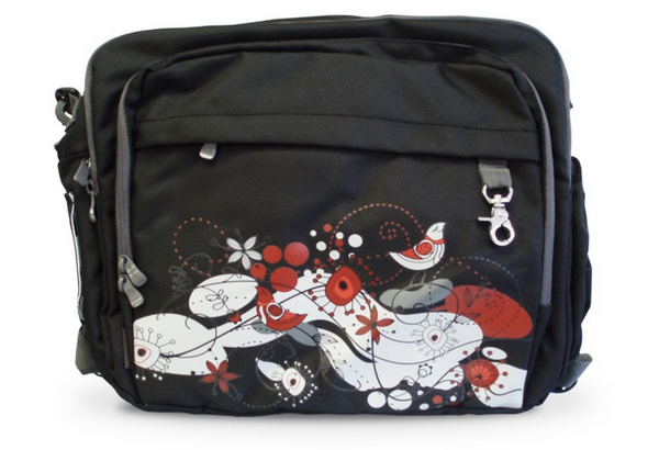 Simply Good Fusion Diaper Bag - Black (Bird Abstract)