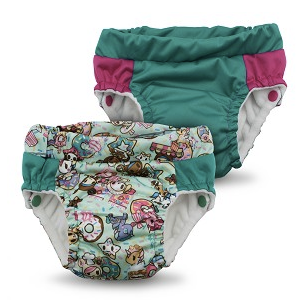 Lil Learnerz Training Pants  - tokidoki x Kanga Care - tokiTreats & Peacock 2 pack