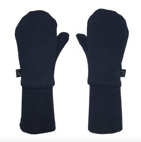 Mid-season cotton mitts (Navy)