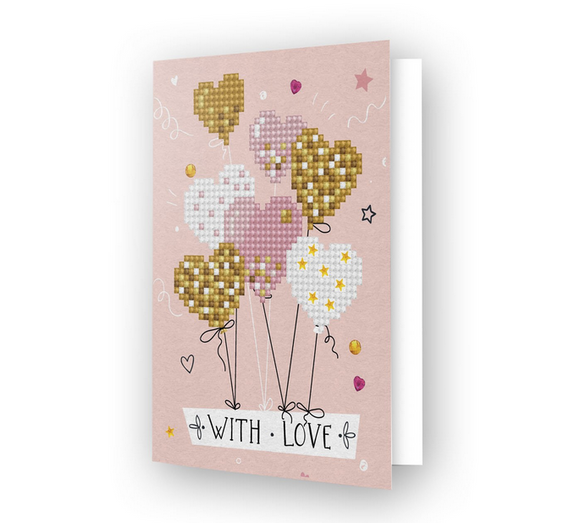 Greeting Card LOVE BALLOONS