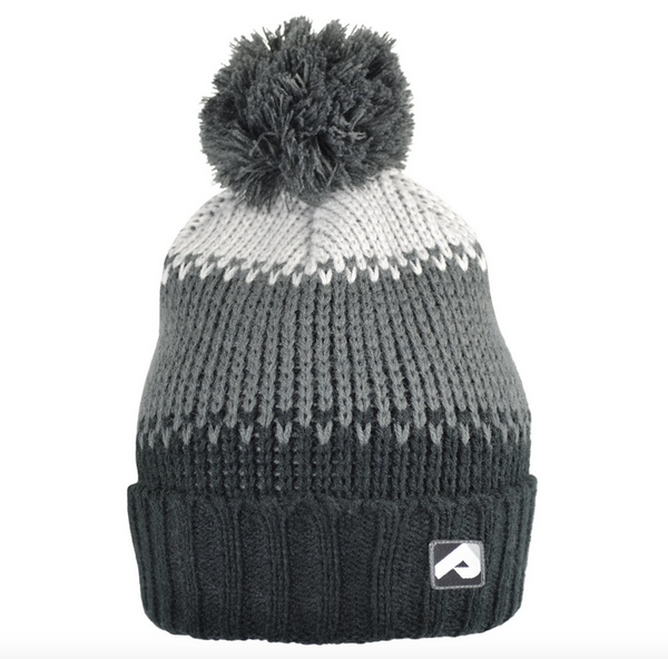 Winter hat with removable pompom