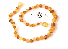 Necklace  -  Raw Duo Light (gold/caramel)