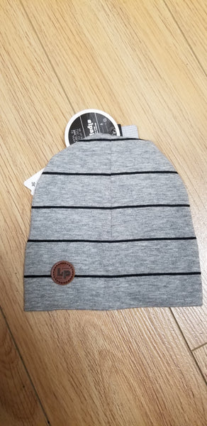 Ultra trendy cotton beanie - Gray / Black