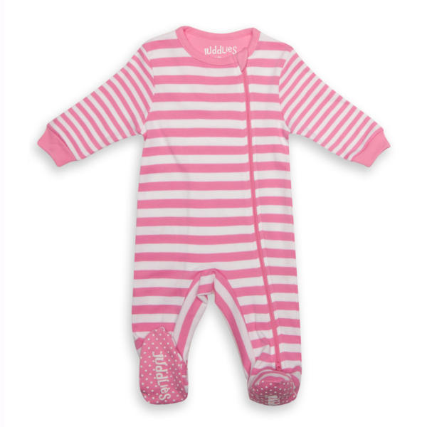 Sleeper: Sachet Pink Stripe XL (12-24m)