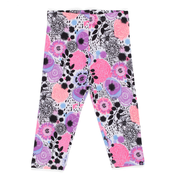 3/4 leggings - Anemones and butterflies- S2004-02-2