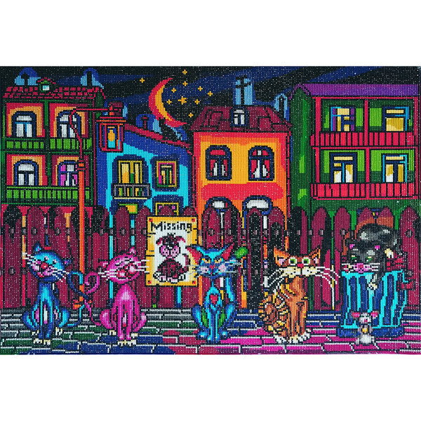 Diamond painting ALLEY CATS 27'' x 20''
