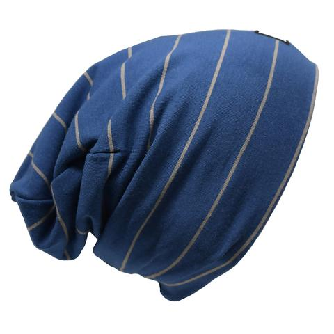Ultra trendy cotton beanie - Urban Blue/Gray Earth