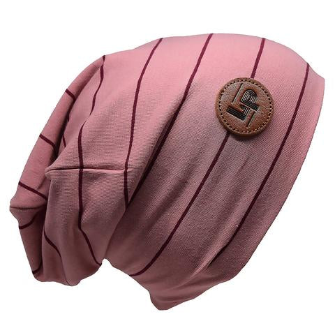 Ultra trendy cotton beanie - Elegant pink / Night ruby