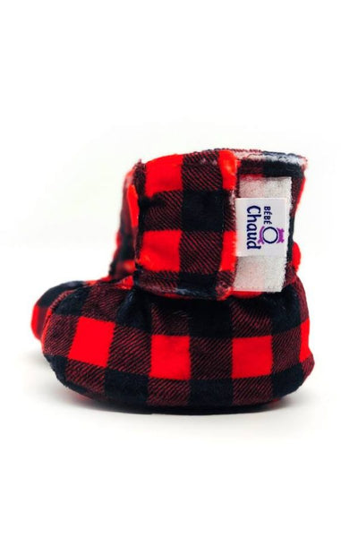 Velcro slippers – Red/Black Plaid