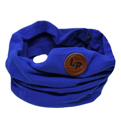 Cotton infinity scarf - royal blue