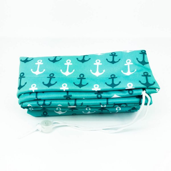 Elf Xtra Large Waterproof Laundry Bag Turquoise Anchor