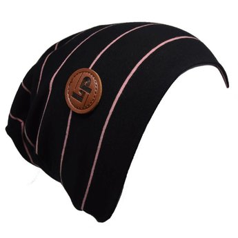 Ultra trendy cotton beanie - Black / Vintage Pink