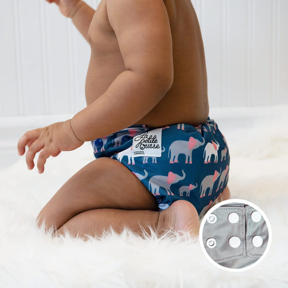 LPO Pocket Diaper OS (Snap) - Parade
