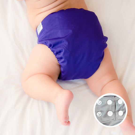 LPO Pocket Diaper OS (Snap) - Dark Purple