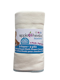 Applecheeks Inserts 3 ply Rayon from Bamboo (2-pack)
