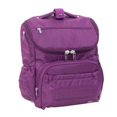 Pitter Patter Diaper Bag - Plum
