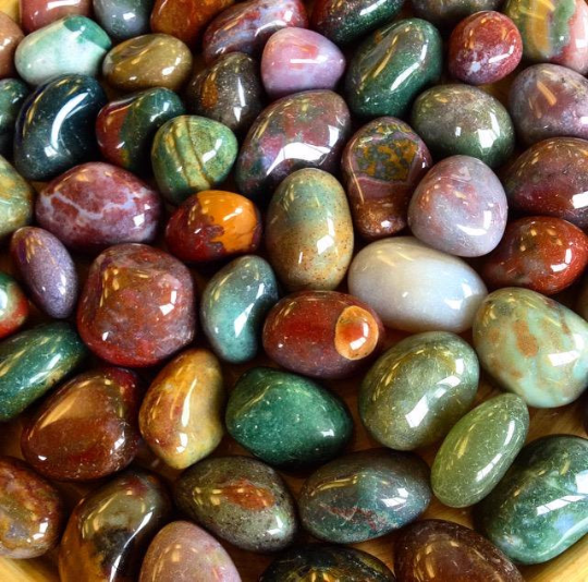 Tumbled Stone - Fancy Jasper