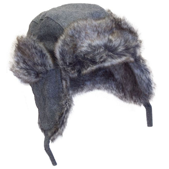 Wool Blend Aviator Hat