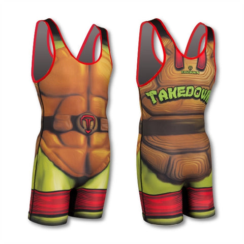 SHELLS RED WRESTLING SINGLET