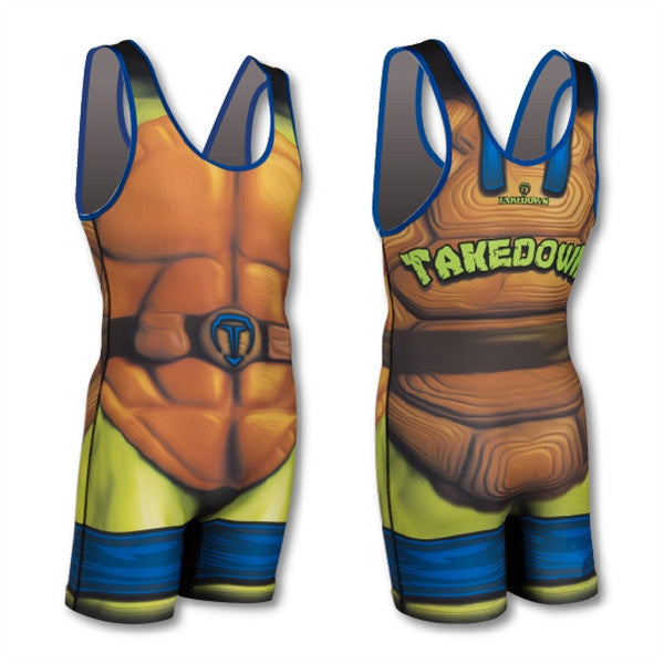 SHELLS BLUE WRESTLING SINGLET