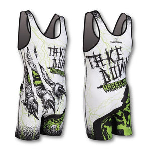 UNLEASHED WHITE WRESTLING SINGLET