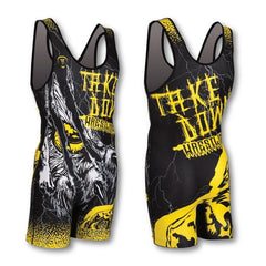 UNLEASHED BLACK WRESTLING SINGLET