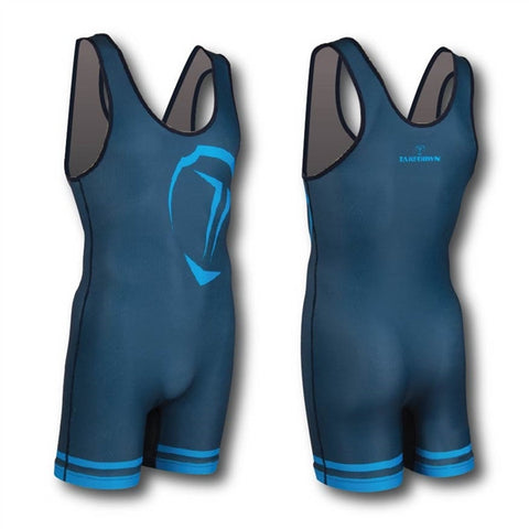 NAVY / CYAN WRESTLING SINGLET (MADE TO ORDER)