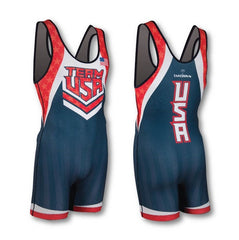 TEAM USA NAVY WRESTLING SINGLET