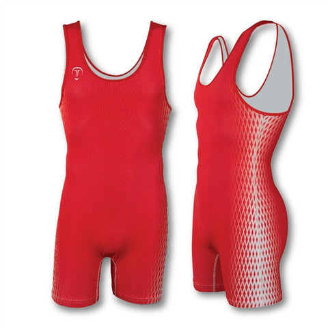 2 POINT RED WRESTLING SINGLET