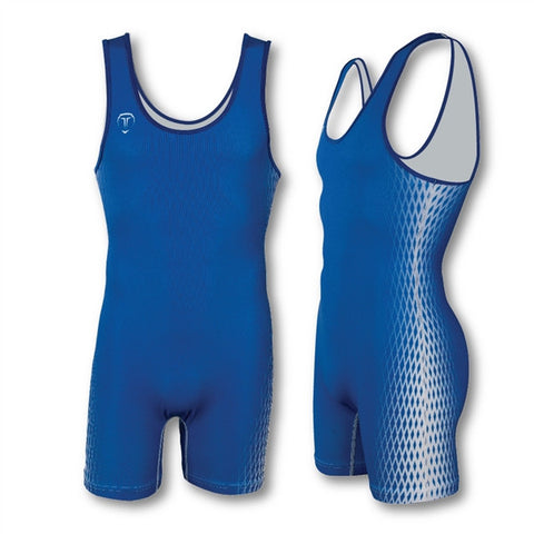 2 POINT ROYAL WRESTLING SINGLET