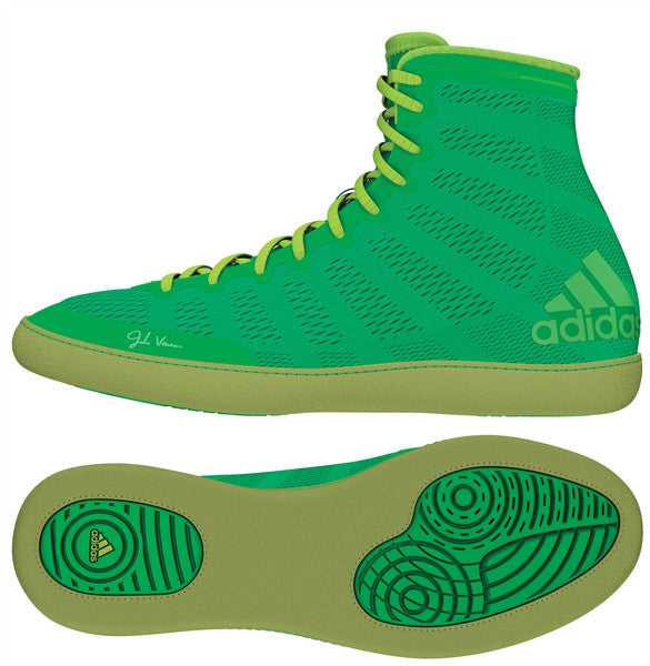 ADIDAS ADIZERO VARNER WRESTLING SHOES - GREEN