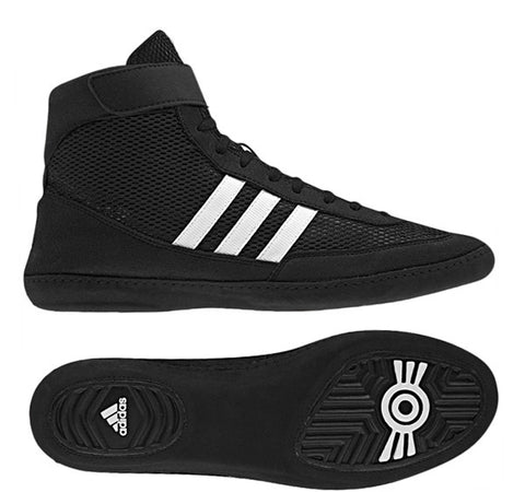 ADIDAS COMBAT SPEED 4 WRESTLING SHOES - BLACK
