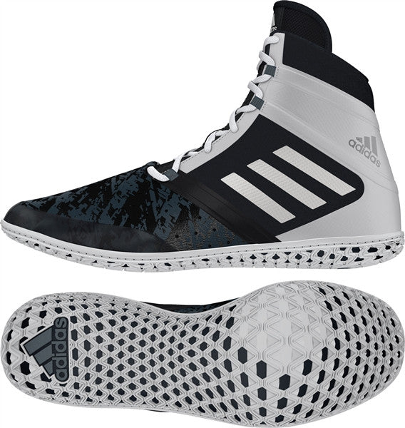 ADIDAS IMPACT WRESTLING SHOES - BLACK/WHITE/GREY